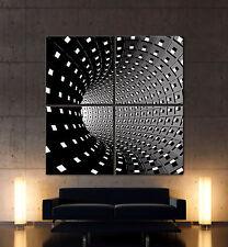 GRAND TEMPS Abstrakt Leinwand Bild Schwarz Weiß Grau Kunstdruck Deko Modern XXL