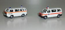 "Roco Miniatur Modell 2413 VW T3/T4 BUS ""Kantons-Polizei"" (2er-Set) 1:87 NEU-OVP"