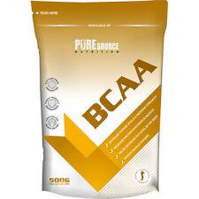 BCAA 500g Powder Branch Chain Amino Acids BCAAs No Caps or Tabs Pure Source