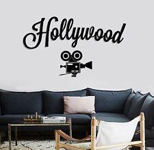 Wall Vinyl Decals Hollywood Camera Movie Cinema Cool Amazing Decor z3758