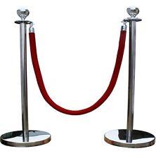Ensemble complet pour barrière avec poteaux polis en acier inoxydable