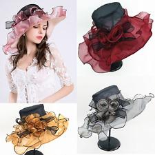 Elegante Sombrero Mujer organdí Nupcial organza para eventos boda colores H3