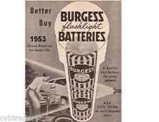 1953 Burgess Flaslight Battery  Refrigerator  / Tool Box  Magnet
