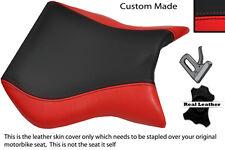 Negro Y Rojo Custom encaja Cagiva Mito 125 95-07 Frontal De Cuero Funda De Asiento