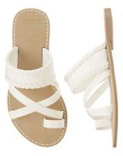 NWT Gymboree Island Cruise Braided White Sandals Shoes 9 10 11 12 13 1