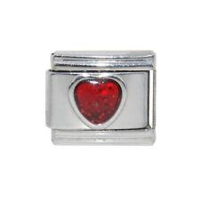 Sparkly heart birthstone 9mm Italian Charm - Fits 9mm Italian charm bracelets