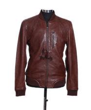 Men's wayne brown smart casual style designer vrai doux cuir d'agneau veste en cuir