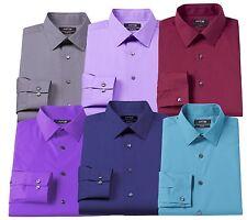 New Men's Apt. 9 Slim-Fit Stretch Spread-Collar Dress Shirt 7 Colors MSRP $45