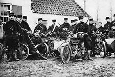 WW1 - Guerre 14/18 - Belgique - Section de motocyclistes de l'armée belge