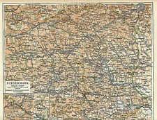 STEIERMARK Liezen Leoben Murau Weiz LANDKARTE von 1897 Feldbach Hartberg