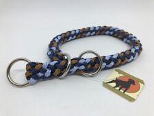 Tauwerk Halsband G1 Basic 9mm, geflochten m. Zugstop, Ringe verchromt, Liverpool