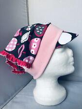 Baby Mädchen Kopftuch, Sonnenschutz, Äpfel , Handmade neu
