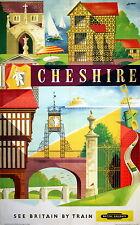 278 Vintage Ferrocarril Art-Cheshire * Libre Carteles