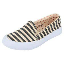 filles de vente H2328 MARINE/beige à rayures Chaussures toile à enfiler par
