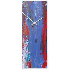 Modern Wall Clock Colorful Kitchen Clock Decorative Color Accent Urban Art Clock