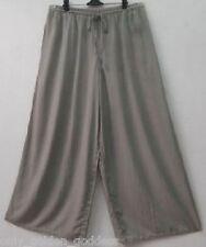 gray culotte pants L XL OS 1X 2X 3X 4X 5X 6X plus size wide leg drawstring