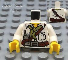 NEW Lego Dino Male/Boy MINIFIG TORSO w/White Shirt Radio Scarf & Belt pattern