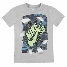 Nike Niños Qtt Rip Camiseta Júnior Chicos Mangas Cortas Casual Ropa Deporte