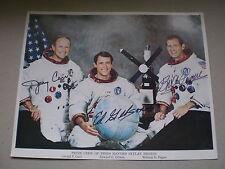 Vintage NASA 3rd Skylab Crew Autopen Signed  Colour 10 x 8   1977