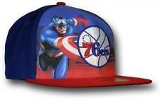 Philadelphia 76ers Captain America Marvel Comics New Era 59Fifty Fitted Hat Cap