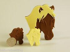 4 +1 cavallo Pony CIOCCOLATO soletta BAR STAMPO SILICONE PIATTI da forno MUFFA CANDY Regalo Craft