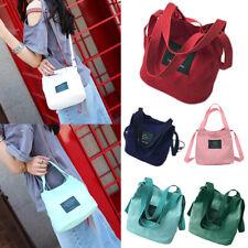 Holder Handbag Student Crossbody Messenger Bag Canvas Bucket Cute Magnetic