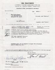 HEDDA HOPPER original signed TV contract