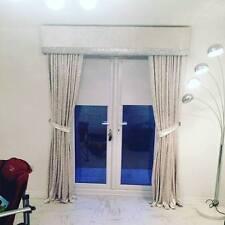 Off White Pearl Crushed Velvet Padded Window Pelmet