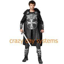 Knight Costume Adult Mens Medieval Renaissance M 32/34, Xl 40/42 Halloween Skull