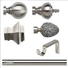 ABC Decor Trade Pole, EYELET 35mm Curtain pole, Adjustable bracket, SATIN STE...