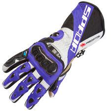 SPADA PREDATOR 2 Cuero Deportes Verano Moto De Carreras Guantes Negros/Azul