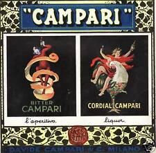PUBBLICITA' 1922 CORDIAL BITTER CAMPARI BUCCIA ARANCIO POLLO GALLO L.CAPPIELLO