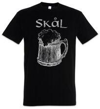 Skål II T-Shirt Drinking Horn Walhalla Thor Loki Odin Wikinger Vikings Trinkkrug