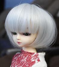 Doll Wig Short Bob Silver Gray BJD Ball Jointed Size 8, 9, 10 NEW
