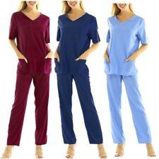 Medical Scrub SET Unisex Top & Pant 6 Colours S-3XL Doctors Uniform Nurse Set