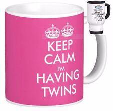 KEEP CALM I'M HAVING TWINS gift MUG new baby babies twin pregnancy mugs cup cups