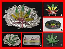 RARE - Rasta Ganja Marjuana Leaf Belt Buckle