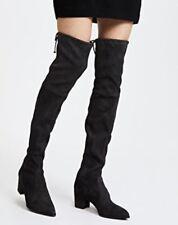 $895 NWB Thighland Stuart Weitzman Boots OTK Black Suede 7.5 8 9.5 10 10.5 11M