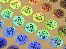 3D Hologramm Aufkleber Siegel 10 mm Sticker QC passed Qualitätskontrolle