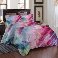 Pink Blue Graffiti 3D Printing Duvet Quilt Doona Covers Pillow Case Bedding Sets