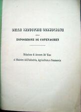 1872 SCANDINAVIA ESPOSIZIONE DI COPENAGHEN SCANDINAVIA