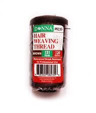 Donna Hair Weaving Thread Brown 131 Yard/120 Meter Track Weft Sewing