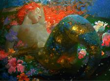 Mermaid MRY72 No stretch Modern Home Decor HD print oil painting on canvas art