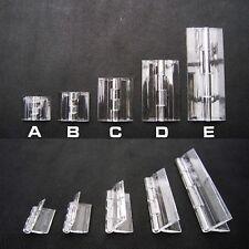 6pc durable clair transparent plastique acrylique perspex box piano plexiglass charnière