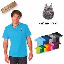 Polo Shirt Coton Brodé Broderie Bouvier du Flandres 2 + Texte Désiré