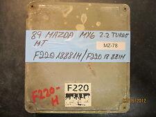 89 MAZDA MX6 2.2L TURBO ECU/ECM #F22018881H *see item description*