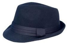 Cool 4 Trilby Feutre Chapeau Noir Costume traditionnel Traveller feutre vintage chapeau wh04