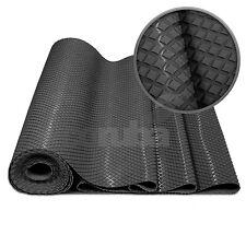 Boat Deck Matting - Rhombus Pattern - 3.5mm Thick - 1m Wide - BLACK