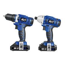 New XU1 2 Piece Cordless Impact drill driver Combo Kit
