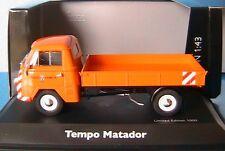 TEMPO MATADOR PRITSCHE STADT HAMELN SCHUCO 03324 1/43 PLATEAU ORANGE